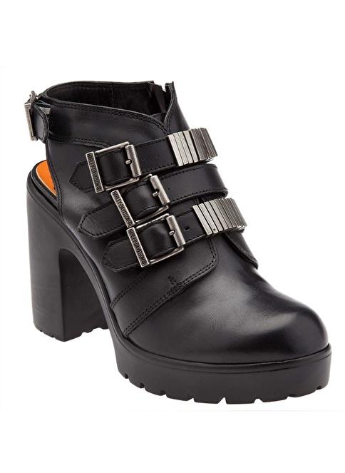 Harley Davidson %100 Deri Ayakkabı Siyah